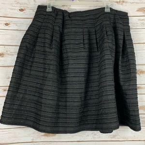 Talbots Woman 22 W Skirt Black Pleated Sparkly